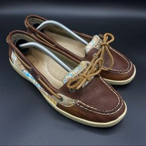 Sperry Top-Sider Angelfish Brown Plaid Twill Pebbl